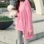 เสื้อยืดตัวยาว สีชมพูหวาน แต่งซิปด้านข้าง ชายเสื้อด้านหน้าสั้น ด้านหลังยาว thumbnail 7