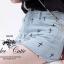 Cutie by Odee Denim Pants กางเกงยีนส์ขาสั้น ปักลายกางเขน thumbnail 6