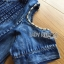 Lady Ribbon Flower Cut-Out Ripped Washed Denim Dress thumbnail 6