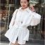 Lady Ribbon White Shirt Dress with Belt thumbnail 2