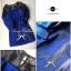 Lady Ribbon มินิเดรสสีน้ำเงิน ดีเทลช่วงอก แต่งลูกไม้ซีทรูสีดำ thumbnail 8