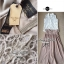 Lady Ribbon Vintage Set เสื้อแขนกุดผ้าแก้วลายลูกไม้กับกระโปรงบาน thumbnail 10