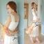 Lady Ribbon Sweet Lace Maxi Dress เดรสยาวผ้าลูกไม้สีครีม thumbnail 3