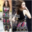 Lady Ribbon Colorful Graphic Printed Maxi Dress thumbnail 3