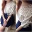Lady Ribbon เสื้อผ้าคอตตอน สีชมพู ขาว กรมท่า ปักลายดอกไม้ thumbnail 4