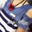 Lady Ribbon Casual Style Cut-Out Denim Striped Dress thumbnail 6