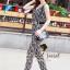 Seoul Secret จั๊มสูทกางเกงขายาว ทรงคอถ่วง แถมเข็มขัด thumbnail 4