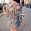 Lady Ribbon Shinori Dress เดรสแขนสามส่วน ลายชิโนริ ขอบหยัก thumbnail 5