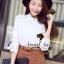 Seoul Secret เสื้อเชิ้ตผ้าคอตตอน ต่อผ้าลูกไม้ thumbnail 3