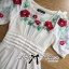Lady Ribbon Floral Embroidered Draping Chiffon Dress thumbnail 10