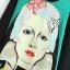 เดรสผ้าชีฟอง พิมพ์ลายผู้หญิงด้านหน้า สีเขียว thumbnail 2