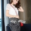 Lady Ribbon Lace Blouse and Polka Dots Peplum Pant Set thumbnail 3