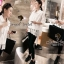 Seoul Secret เชิ้ตเนื้อผ้าคอตตอน ทรงเชิ้ตหน้าสั้นหลังยาว thumbnail 6