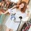 Seoul Secret Navy Doggy Print Tang-Top Dress thumbnail 4