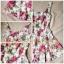 Lovely Floral Mini Dress มินิเดรสแขนกุด ลายดอกไม้ สียีนส์ สีขาว thumbnail 11