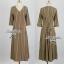 Lady Ribbon Stripe Maxi Dress แม็กซี่ลายทาง โทนสีน้ำตาล thumbnail 9