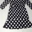 Black & White Dot Dress เดรสสีดำลายจุดสีขาว ทรงเข้ารูป thumbnail 12