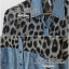 Lady Ribbon เสื้อเชิ้ตผ้ายีนส์ ไหล่ผ้าชีฟองลายเสือ สีเทา สีน้ำตาล thumbnail 8