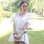 Lady Ribbon มินิเดรสผ้าลูกไม้สีขาว ฉลุลาย น่ารักหวานใส thumbnail 3