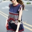 Seoul Secret Chic Navy Bohe Mini Dress thumbnail 4