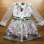 Lady Ribbon Organza Dress เดรสปักลายดอกไม้ thumbnail 5