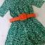 Odee Cutie จั๊มสูท ผ้าพิมพ์ลายใบไม้สีเขียว ขายพร้อมเข็มขัด thumbnail 9