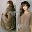 Lady Ribbon Stripe Maxi Dress แม็กซี่ลายทาง โทนสีน้ำตาล thumbnail 4