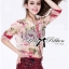Lady Ribbon Floral Silk-Chiffon Crop Top thumbnail 1