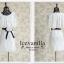 Icevanilla เดรสผ้าลูกไม้เกาหลีทอลาย แถมเข็มขัดโบว์ thumbnail 9