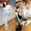 Cliona White Lace Blouse เสื้อขาวแต่งลูกไม้ซีทรูและระบายอก แขนตุ๊กตา thumbnail 7