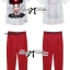 Lady Ribbon Girl Printed Top and Red Pants Set thumbnail 3