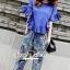 Seoul Secret Chic Sapphire Pants Set thumbnail 1