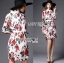 Lady Ribbon Dress เดรสลายดอกกุหลาบ thumbnail 2