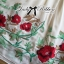 Lady Ribbon Floral Embroidered Draping Chiffon Dress thumbnail 12
