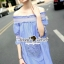 Seoul Secret Sweepy Smocking Chic Dress thumbnail 5