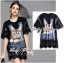 Lady Ribbon Kitty Printed Insert Lace Jersey Dress thumbnail 4
