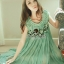 Seoul Secret Pleatta Green Mint Dress thumbnail 1