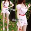 Lady Ribbon Cherry Embroidered Jumpsuit with Bow thumbnail 3