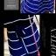Maxi Dress เดรสยาวผ้าชีฟอง พิมพ์ลายขวาง สีน้ำเงิน สีขาว thumbnail 10