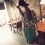 ชุดเซ็ทเสื้อผ้าชีฟอง พิมพ์ลายดอกไม้ กางเกงสีเขียว thumbnail 4