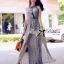 Lady Ribbon Paisley Chiffon Maxi Dress thumbnail 1