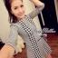 Lady Ribbon Shinori Dress เดรสแขนสามส่วน ลายชิโนริ ขอบหยัก thumbnail 6