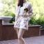 Seoul Secret Sakura Outer Set ชุดเสื้อคลุม กางเกงลายดอกซากุระ แถมเข็มกลัด thumbnail 2