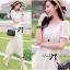 Lady Ribbon Lace Maxi Dress แม็กซี่เดรสแขนสั้น ผ้าลูกไม้ จั๊มเอว thumbnail 5