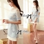 Lady Ribbon Baby Blue Graphic Dress thumbnail 3