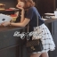 Lady Ribbon T-Shirt and Checked Skirt Set thumbnail 4