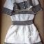 Lady Ribbon ชุดเซ็ตเสื้อนอก พร้อมเดรสเกาะอก ผ้าทวีทขาวดำ thumbnail 8
