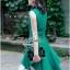 Lady Ribbon มินิเดรสแขนกุด สีเขียว ชายกระโปรงทรงเก๋ๆ thumbnail 7