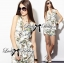 Lady Ribbon Spring Floral Graphic Painting Jumpsuit thumbnail 2