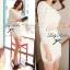 Lady Ribbon Lace Mini Dress มินิเดรสแขนยาว ดีเทลลูกไม้ทั้งตัว thumbnail 9